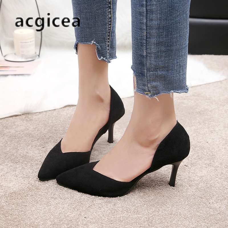 2019 summer new style sandals womens fashion hollow pointed shallow mouth single shoes stiletto suede sexy wild high heels m152019 summer new style sandals womens fashion hollow pointed shallow mouth single shoes stiletto suede sexy wild high heels m15