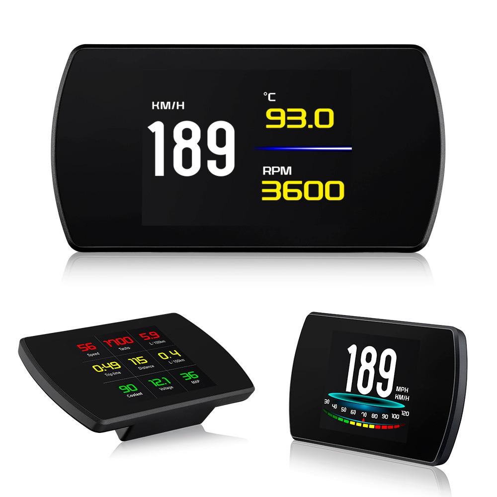 "2019 New 4.3"" HD TFT Car Hud OBD LCD Head Up Display OBD2 Speedometer RPM Tachometer On board Computer GPS Speedometer Display-in Head-up Display from Automobiles & Motorcycles    1"