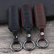 Leather Car Remote Key Case Cover For Mazda 2 3 6 Atenza Axela Demio CX-5 CX5 CX-3 CX7 CX-9 2015 2016 2017 2018 2019 Accessories qcontrol 3 buttons smart key suit for mazda cx 3 cx 5 axela atenza model ske13e 01 car remote control
