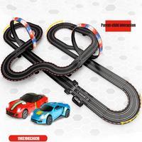 Большой пульт дистанционного управления гоночный трек игрушка набор петель Электрический Слот автомобили гонка трюк петля 2 управления lers