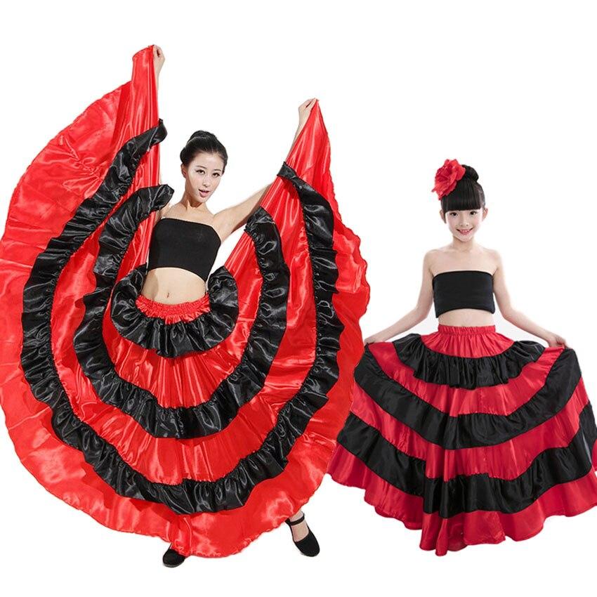 0176efabd Madre hija familia trajes mujer niñas español Flamenco falda Traditioanl  España danza del vientre ...