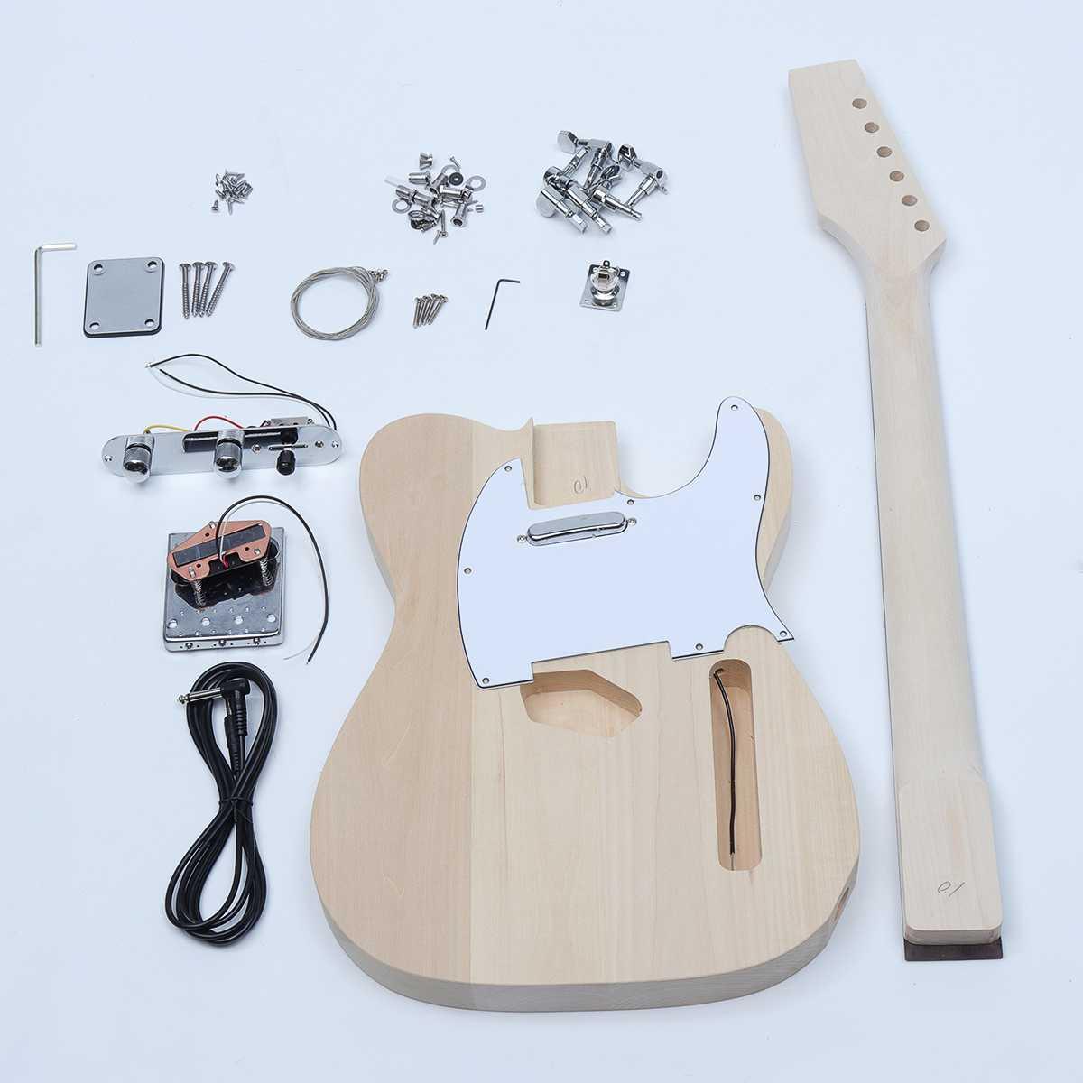 Bricolage Électrique Guitare Accessoires Remplacement Kit Hêtre Bois manche en Érable Corps 6 instrument à cordes Guitare Pièces Accessoires