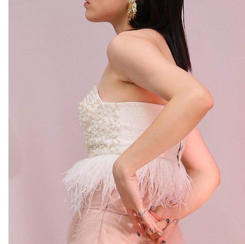 Tube Blanc Mode Perle Femmes Retour Cousu Top Botton Sexy eam Imitation Plume 2019 Main Printemps Yc90000 Milk Nouveau xvf05Oqw0