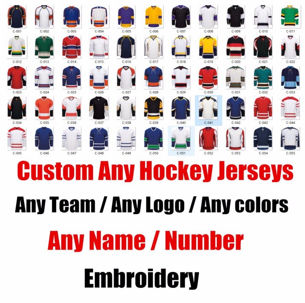 Réplique personnalisée de maillots de Hockey sur glace pour hommes femme enfant maillot Vintage USA CANADA australie