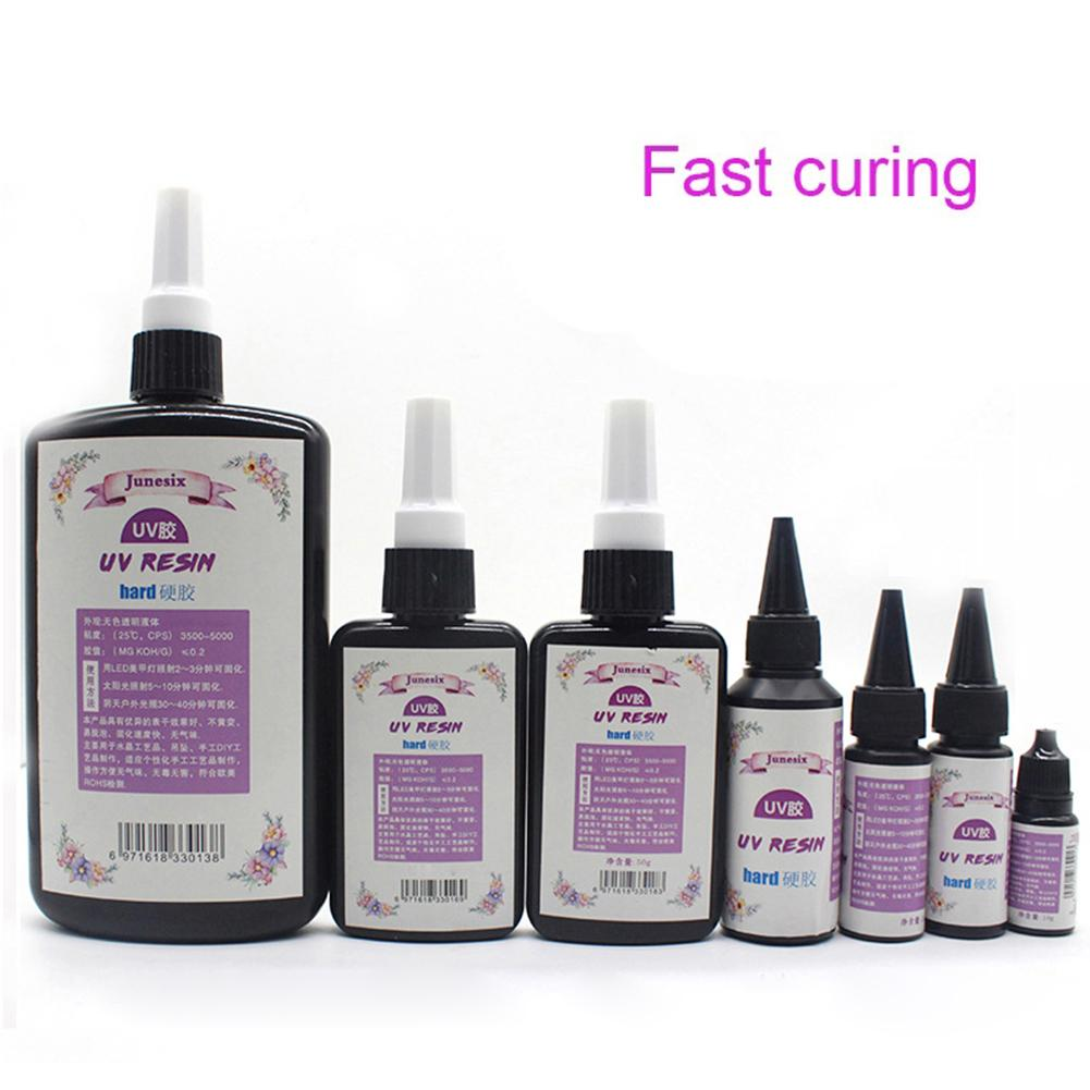 10/20/25/50/60/100g DIY UV Resin Ultraviolet Curing Resin Gel Quick-drying Sunlight Activated Hard Glue DIY Craft