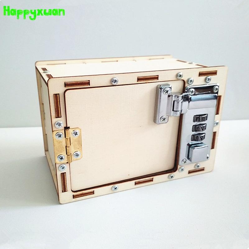 Happyxuan Mechanische Passwort Box DIY Kinder Wissenschaft Projekte Experiment Kits Junge Spielzeug Erfindung 2018 innovation Kreative Bildung