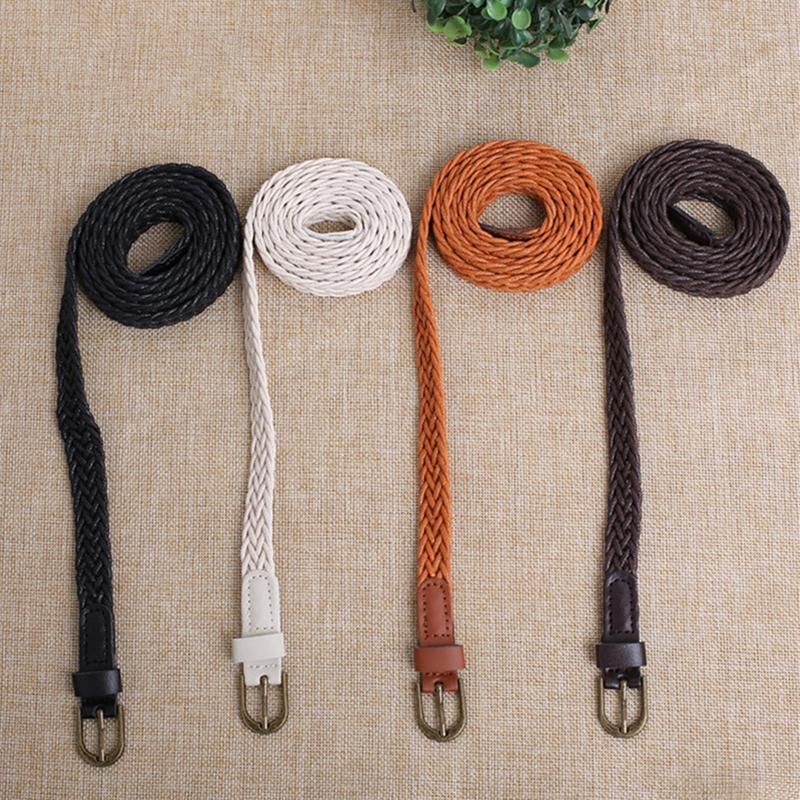 Fashion Elastic   Belt   Knitted   Belts   Girdle Female Pin Buckle Strap Women Adult High Quality   Belts   for Girls Dress Decoration