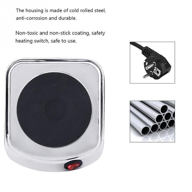 220V 500W Mini Electric Stove Hot Plate Cooking Plate Multifunction Coffee Tea Heater Home Appliance Hot Plates for Kitchen hot