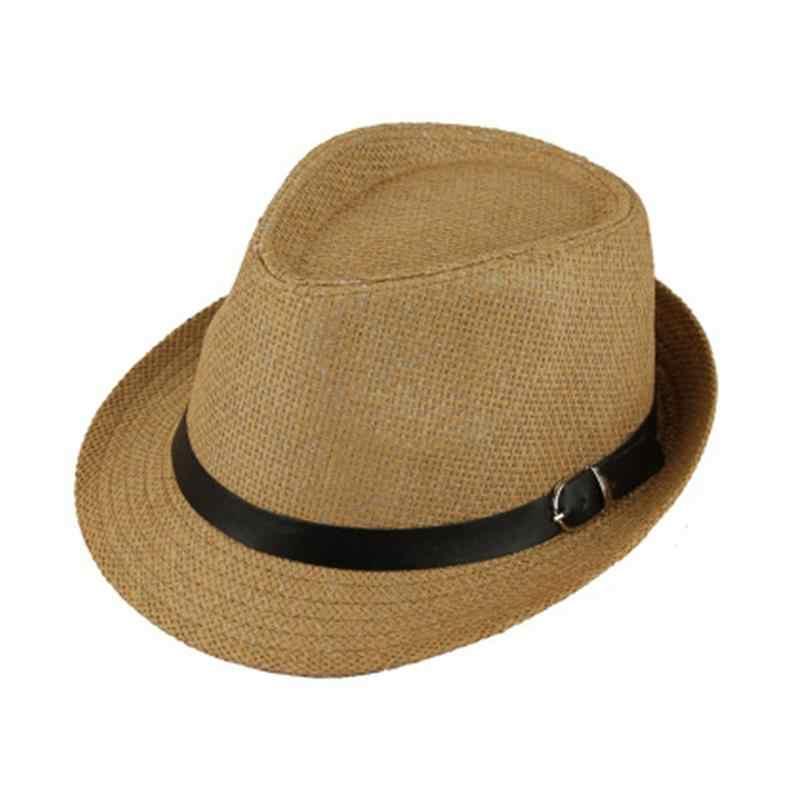 ファッションクラシックユニセックスわら Fedora 太陽の帽子ツバ広パナマフェルト帽クラッシャブルメンズレディース折りたたみビーチ帽子 10 色