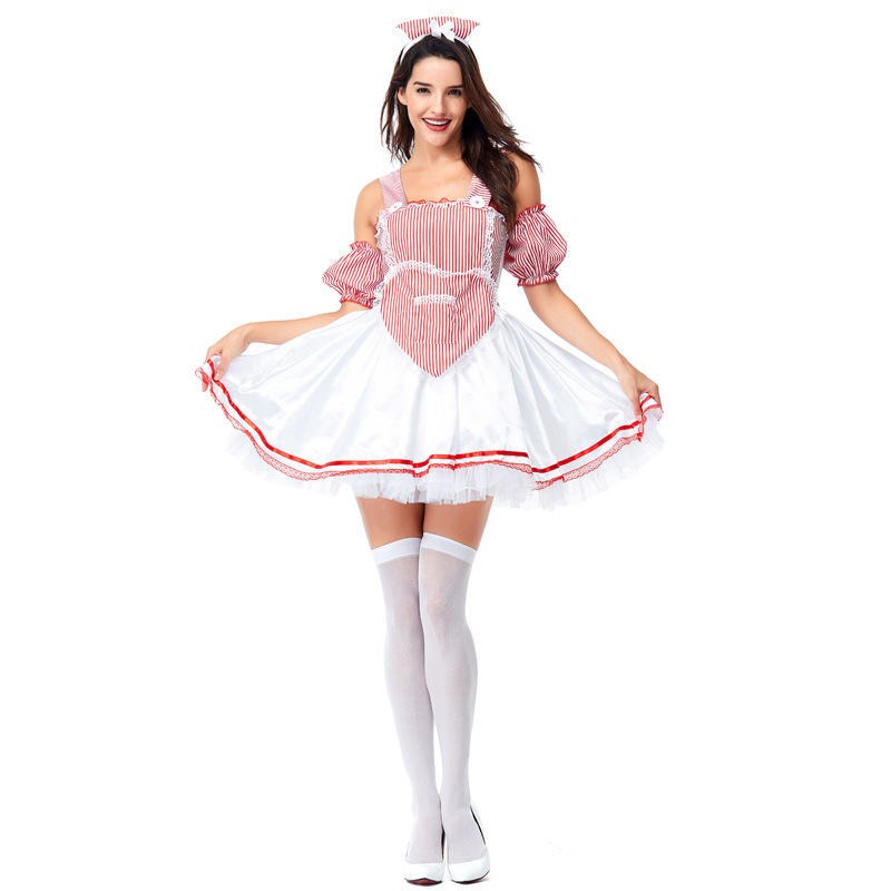 Oktoberfest Beer Festival Costume Cosplay Adult Halloween German Girls Performance Party Dress