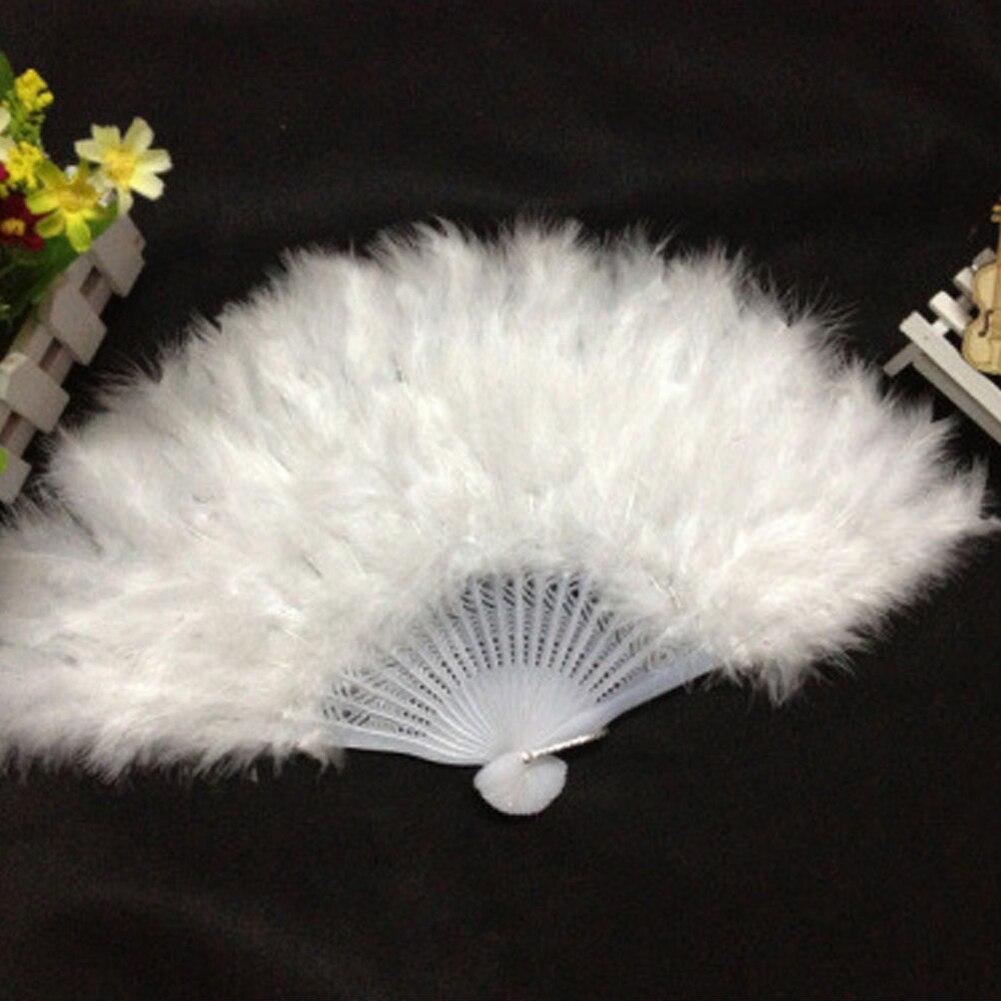 New  Chinese Style Feather Fan For Dance Props Wedding Party Gift Hand Held Fan Folding Fan 26*45cm