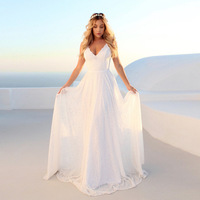 2019 Women White Dress Lace Mesh Sexy Beach Dress Backless Party Long Dresses High Quality