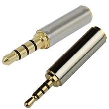 2.5 mm Male to 3.5 mm Female Stereo Audio Headphone Jack Plug Adapter Converter For Microphone gold 2 5 mm male to 3 5 mm female audio stereo adapter plug converter headphone jack dropshipping