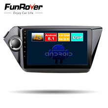 Funrover 8-ядерный android 8,1 dvd-плеер автомобиля для KIA RIO K2 2011 2012 2014 2015 2016 радио gps-навигация DSP 64G sim-слот Wi-Fi
