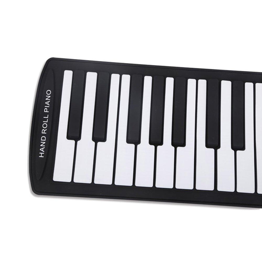 Portable 61 Touches Flexible Roll-Up Piano USB MIDI Électronique Clavier Main Rouleau de Piano