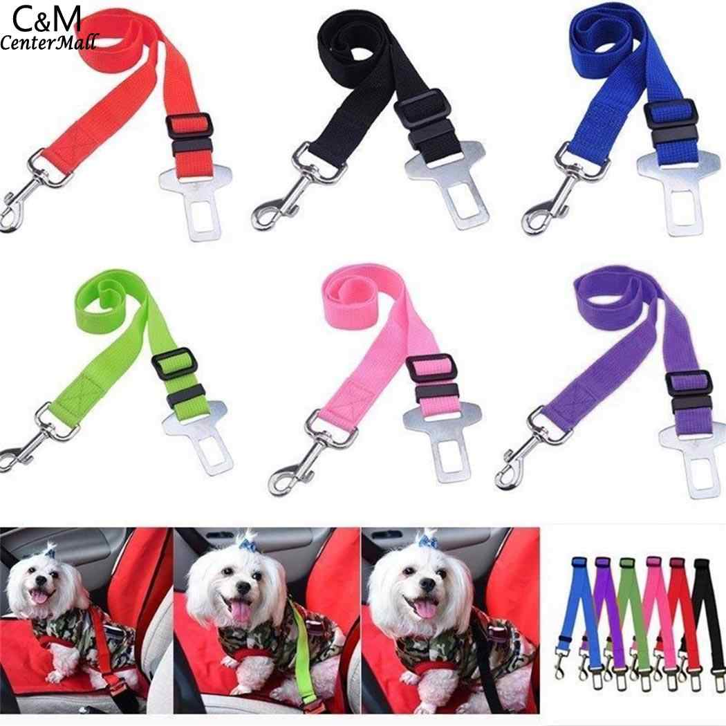 6 Colors Adjustable Vehicle Car Pet Dog Safety Seat Belt Pet Harness Restraint Lead Leash Clip Safety Supplies Accessories 2018