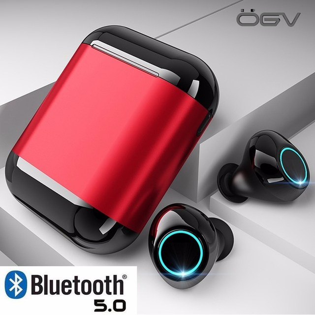 Mini Sport Wireless Headphones Bluetooth Earphones Headsets Tws 5.0 Earbuds Earphone For iPhone Samsung Phone With Charging Box