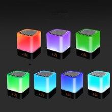 a litttle piggy Colorful LED Bluetooth Speaker Light Touch Card Speaker Gift Clock Night Light speaker led bluetooth speaker led light speaker led