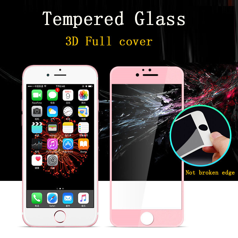 Tempered glass cover for iphone 8 plus 7 6s plus glass screen protector 3d glass for iphone 6 for iphone 6 6s 7 8 plus glass HD in Phone Screen Protectors from Cellphones Telecommunications