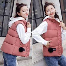 Women Parka Winter Vest 2018 Autumn Sleeveless Jacket Coat Female Casual Plus Size Warm Outerwear 5XL