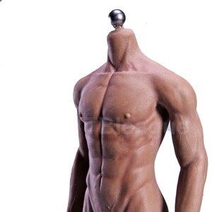 Image 5 - Cuerpo sin costura Muscular Ultra Flexible para hombre, esqueleto de acero inoxidable, cuerpo de piel humana de goma, para cabeza a escala 1/6, juguete, escala 1/6