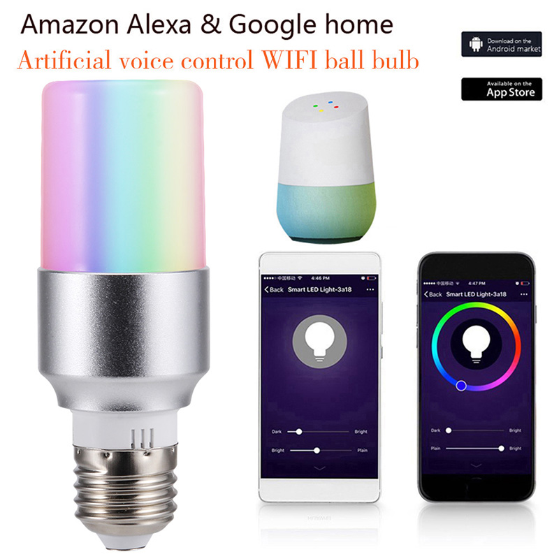 E27 B22 E14 Smart WiFi Light Bulb LED Lamp APP Remote Control 7W RGB Magic Light Bulb Connect With Amazon Alexa Google