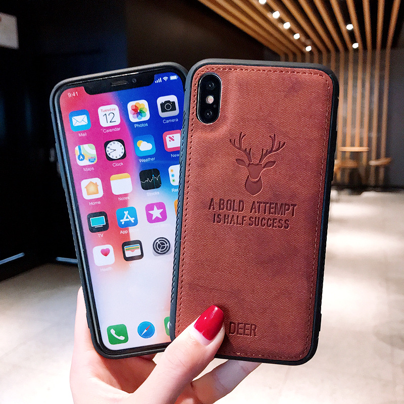 Animal PU Leather iphone 6s 7/8plus XS MAX XR Case Waterproof Half-wrapped Case Anti-knock Pouch Fitted Case Iphone accessories