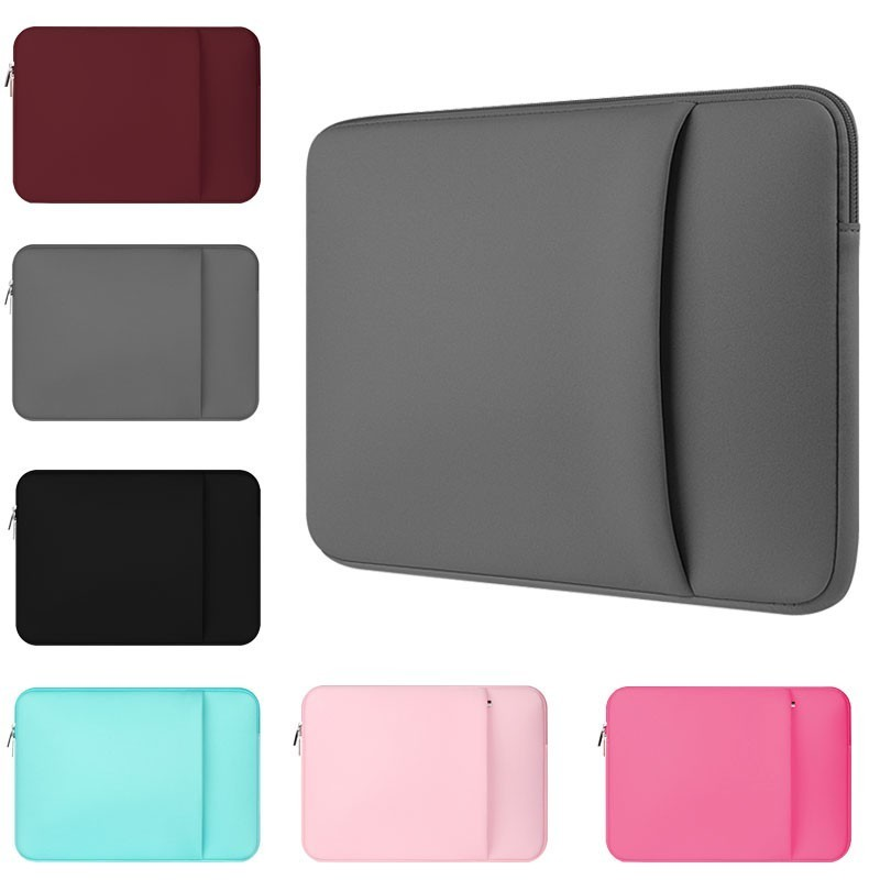 Yicana Laptop Sleeve 11 12 13 14 15 15.6 inch notebook case Soft bag For Macbook Air Pro Retina Ultrabook 12.9 Tablet Pocket