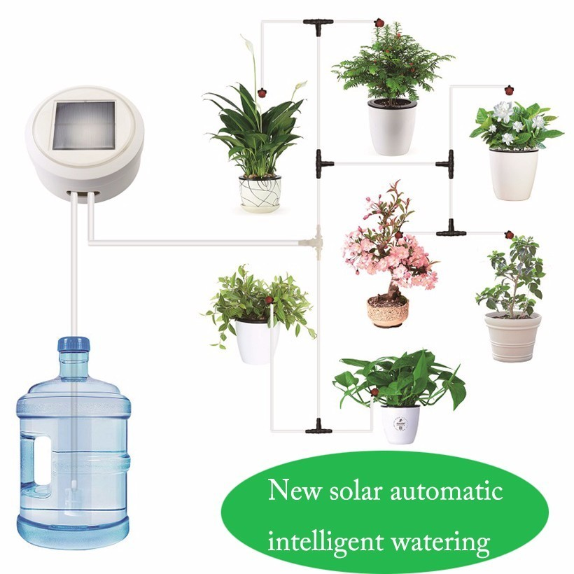 Solar Energy Intelligent Timing Garden Automatic Watering Device Plant Drip Irrigation Tool Water Pump Sprinkler Micro