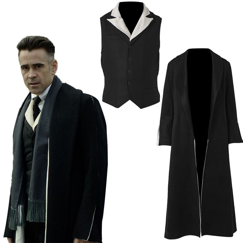 Percival Graves Costume Fantastic Beasts and Where to Find Them Cosplay Carnival Halloween Custom Made Only Overcoat Blazer