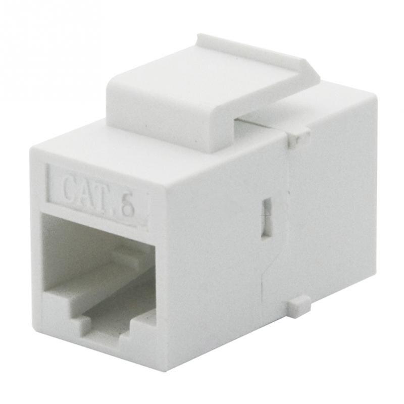 5pcs CAT5 RJ45 Keystone Inline Coupler Extender Adapter Wall Plate Patch Panel