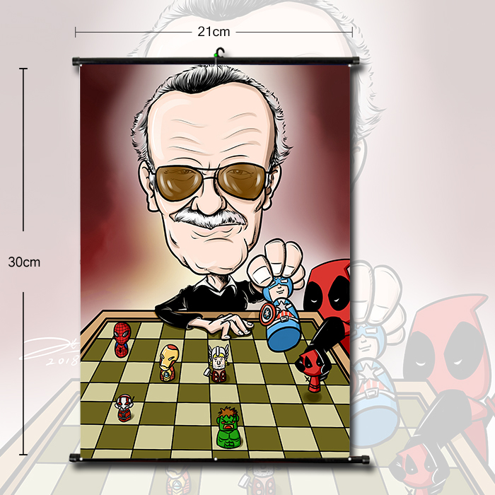 OHCOMICS Marvel Stan Lee Home Decor Wall Stickers Painting Creative Wall Posters Coated Poster for Bedroom Home Club Decoration