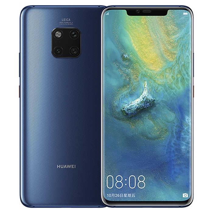Versi Global Huawei Mate 20 Pro Ponsel IP68 Tahan Air 6GB RAM 128GB ROM 40MP 4 Kamera Kirin980 cepat Charger Ponsel