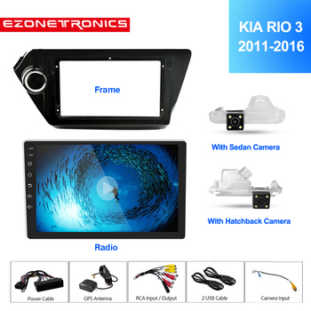 2Din 9Inch Android7.1 Car Radio Multimedia Video Player Navigation GPS For KIA K2 RIO3 Accessories Sedan Hatchback 2011-2016Auto image