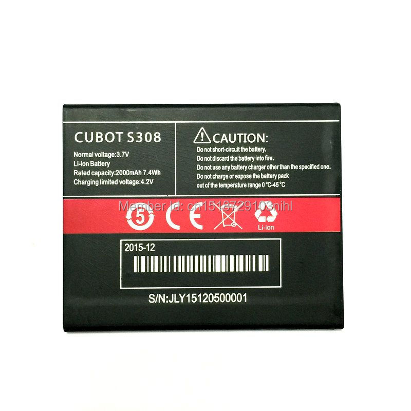 2000mAh High Quality Mobile Phone <font><b>Battery</b></font> Replacement For <font><b>CUBOT</b></font> <font><b>S308</b></font> Phone image