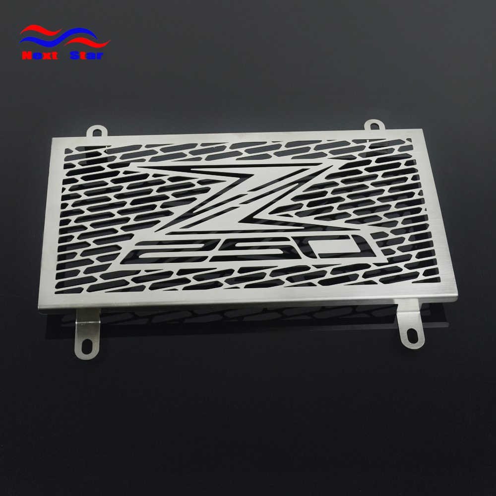 Motorcycle Silver Stainless Steel Radiator Grille Cover For KAWASAKI Z250 Z 250 2013-2015 2013 2014 2015