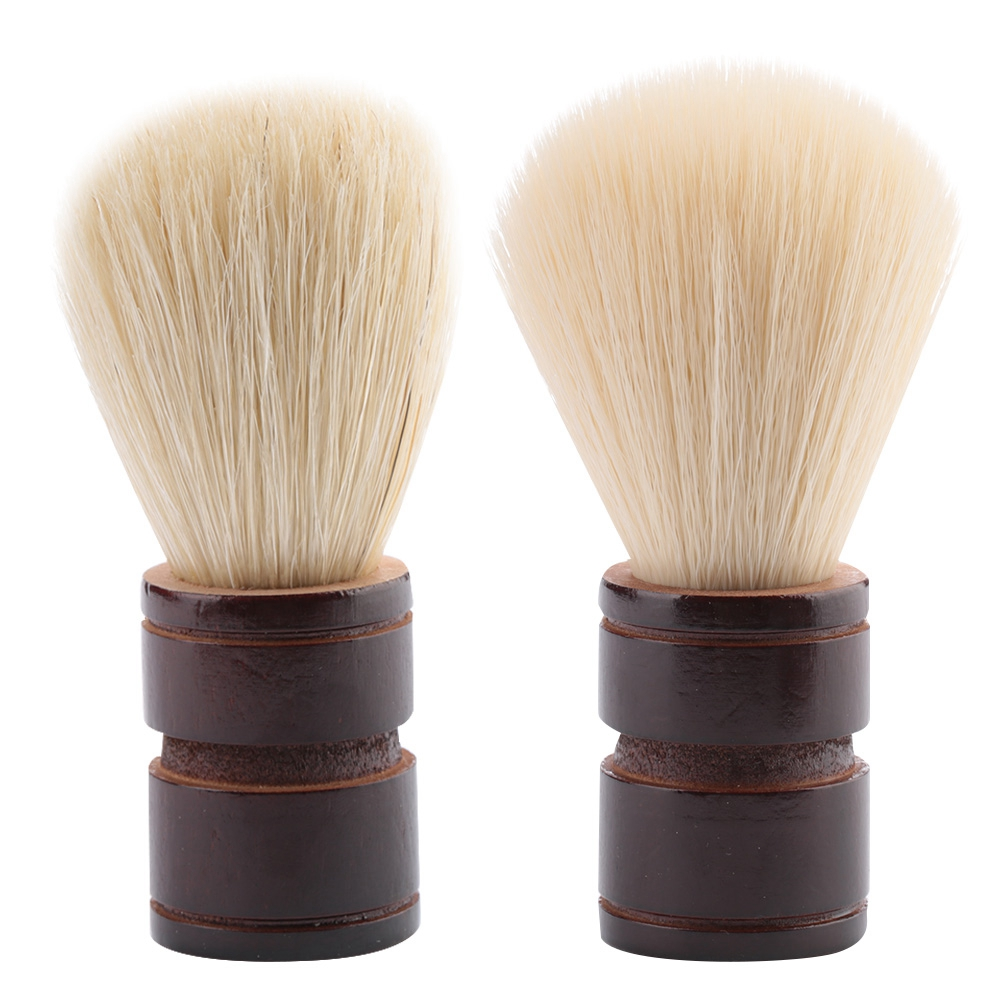 Portable Men Beard Brush Wooden Handle Shaving Brush For Salon Home Travel Use Facial Beard Cleaning Appliance Shave