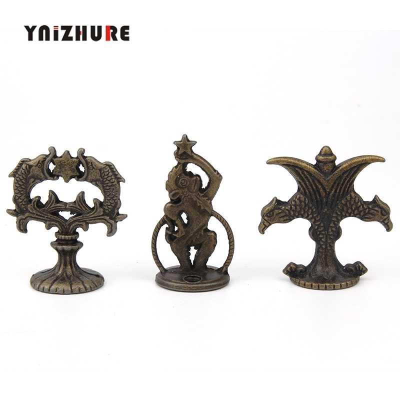 YNIZHURE משיכה עתיקה ברונזה רטרו ידיות Creative רב תכליתי מסיבת סגסוגת מטבח מגירת קבינט דלת רטרו ידית עם בורג