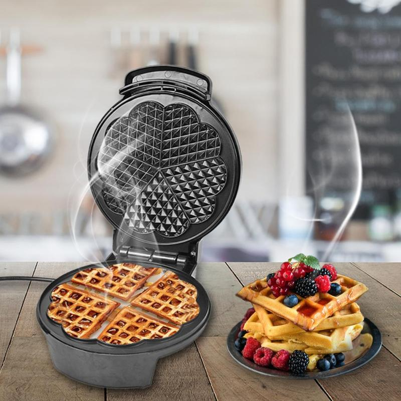 220V Electric Waffles Maker Full-automatic Waffle Maker DIY Doughnut Egg Roll Ice Cream Cone Machine Household Muffin Machine