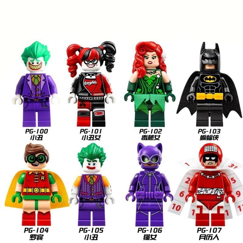 Super-Man Bat-Man Movie Figures Batman Joker Building Blocks Model Toys For Children Compatible LegoingLy Super Heroes Xmas Gift