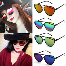 Vintage Oval Small Metal Frame Sunglasses Men Women Fasion mirror Sun Glasses Female Eyewear