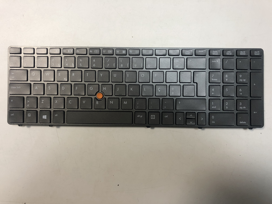 For HP Probook 8560W 8560 8570W Laptop keyboard UK Black Frame With Point stick