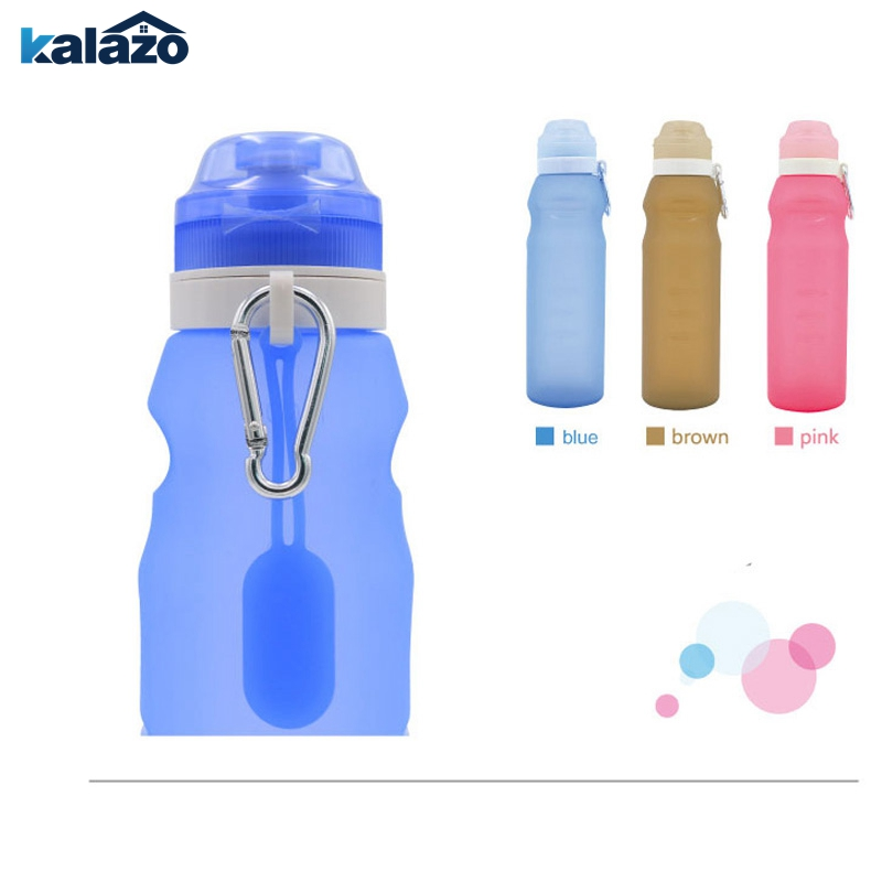 Creative Travel Outdoor Water Bottles Portable Dog Cat: Travel Silicone Folding Cup Outdoor Portable Travel 600ML