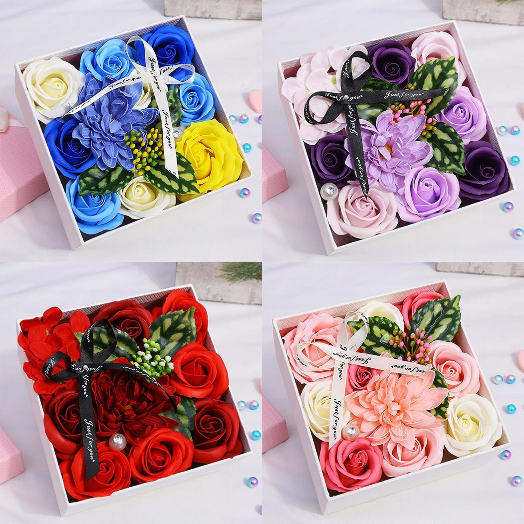 Soft Simulation Petals Soap Flower Home Decoration Holiday Gift Rose Carnation Hydrangea Decoration Flower in Soap from Beauty Health