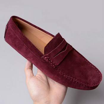 Mens Leather Casual Shoes Men Fashion Loafers Mens Leather Driving Shoes Suede Leather Men Loafers Moccasins Dress Penny Loafers фото