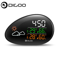 DIGOO DG THS01 Smart Home Lying Stone Clock Weather Station Weather Forecast Outdoor Indoor Thermometer Hygrometer Humidity Cale