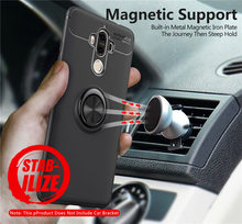 Case For Huawei Mate 9 Pro Mate9 Cover Silicon Mate9Pro Soft TPU Magnetic Car Holder Ring