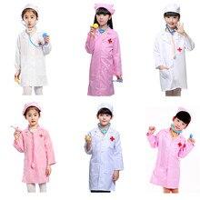 a24c8159cfdb98 Dom zabaw dla dzieci kostium chłopcy dziewczęta lekarz strój pielęgniarki  Halloween Cosplay rodzina gry dla dzieci kostiumy karn.