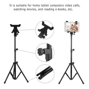 Image 5 - מתכוונן רצפת חצובה גמישה סטנד Tablet מחזיק סוגר מוסיקה מתלה הר תמיכה for7 13 אינץ טבליות עבור ipad טלפון בעל