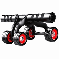 4 Wheels Abdominal Roller Triple ab Roller Abs Workout Fitness Machine Gym Knee Pad muscle Training Gym Exercise Fitness Equipme